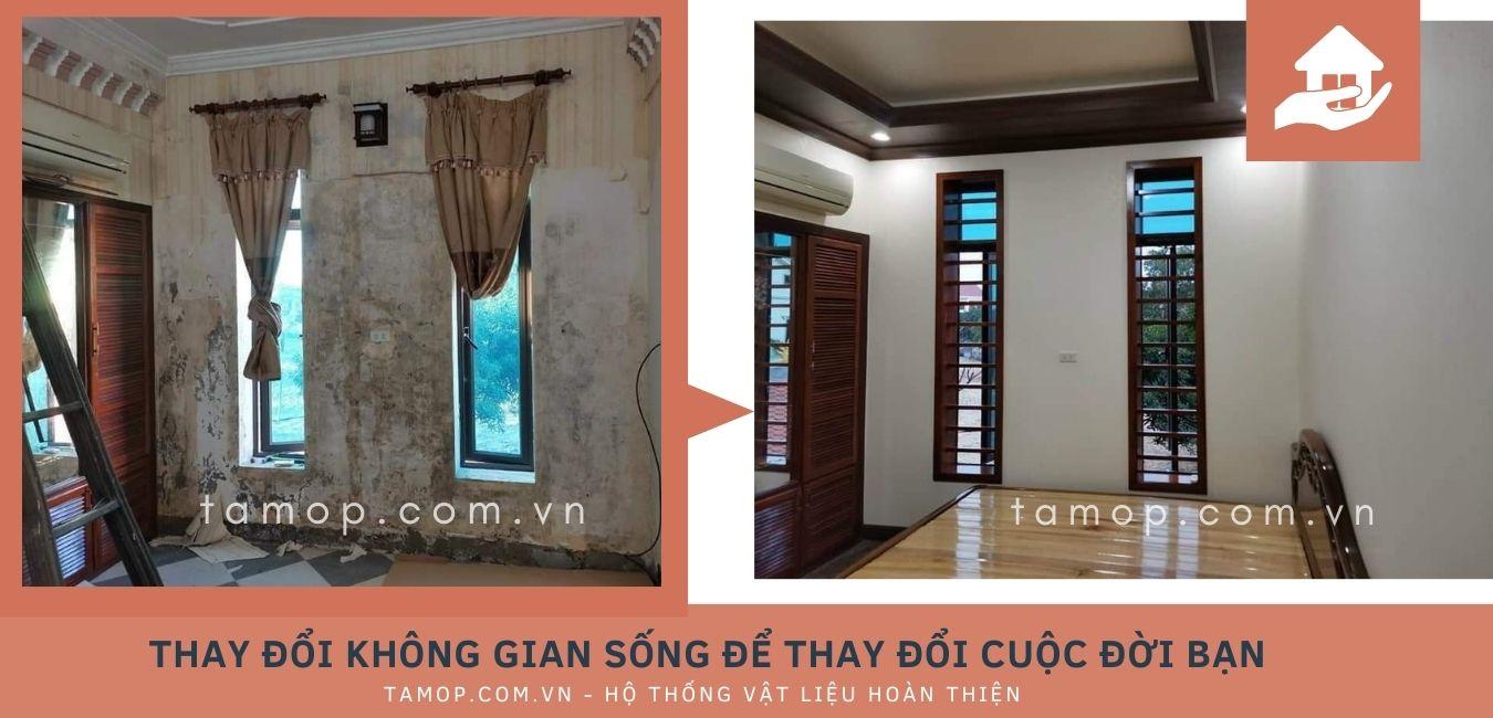 sử dụng tấm nhựa ốp tường chống ẩm.